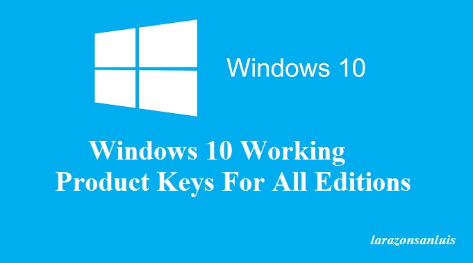 windows 10 product key 2017 free